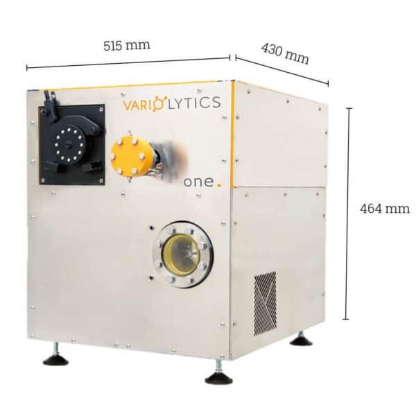 Quadratischer Massenspektrometer in Metalloptik