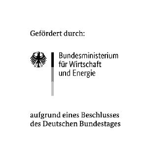Das Logo des Bundesministeriums für Wirtschaft und Energie, von dem Variolytics aufgrund eines Beschlusses des Deutschen Bundestages gefördert wird.