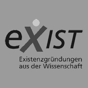 Das Logo der Exist Förderung für Existenzgründungen aus der Wissenschaft