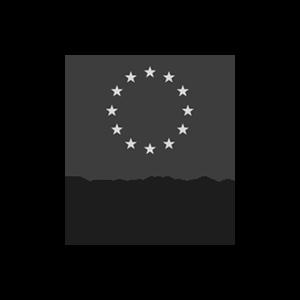 Das Logo der Europäischen Union in schwarz-weiß für den Exist Forschungstransfer